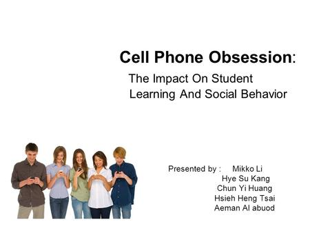 how cell phones affect social behavior Parents absorbed in their mobile devices were more likely to harshly scold their child's bad behavior, a affect a parent's from their cell phones.