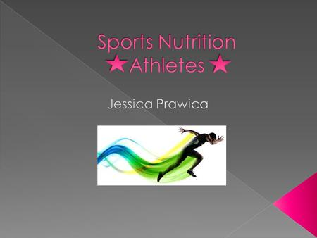 PPromotion of nutrition to athletes to enhance their performance, health, and fitness.