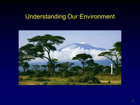 1 Understanding Our Environment. 2 Outline Introduction Historical Perspective  Pragmatic Resource Conservation  Moral and Aesthetic Nature Conservation.