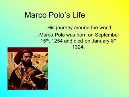 the travels of marco polo essay Marco polo marco polo marco polo became famous for his many travels, starting with a trip to asia that began in 1271 his book about his travels became one of the.