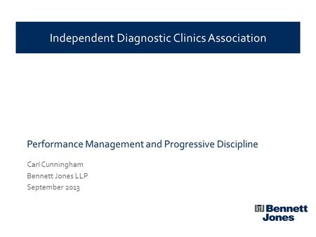 Performance Management and Progressive Discipline