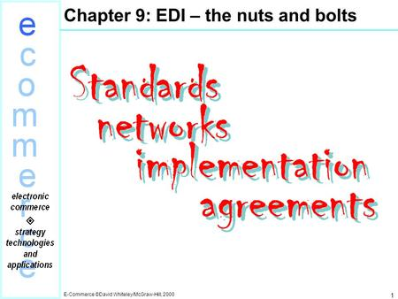Chapter 9: EDI – the nuts and bolts