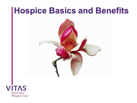 Hospice Basics and Benefits. Goal  To educate nurses and other health care professionals about hospice basics and the benefits for the patient and family.