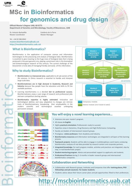 Bioinformatics is the application of computer science and information technologies to the processing and analysis of biological data. Bioinformatics is.