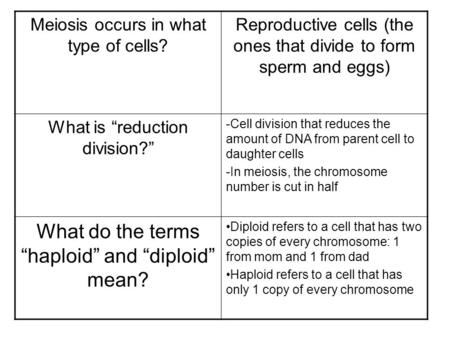 "What do the terms ""haploid"" and ""diploid"" mean?"