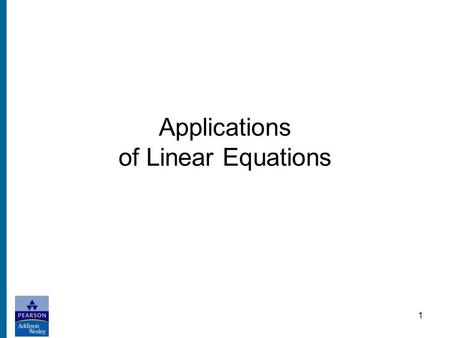 1 Applications of Linear Equations. 2 Step 1 Read the problem, several times if necessary, until you understand what is given and what is to be found.