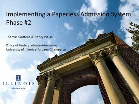 paperless university admission system Magazines: gone digital, going paperless content management system digital natives-are still launched in a print format to complement admissions web.