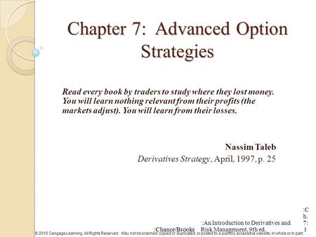 Trading strategies involving options
