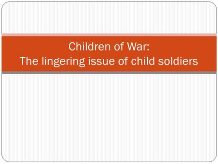 Children in the military