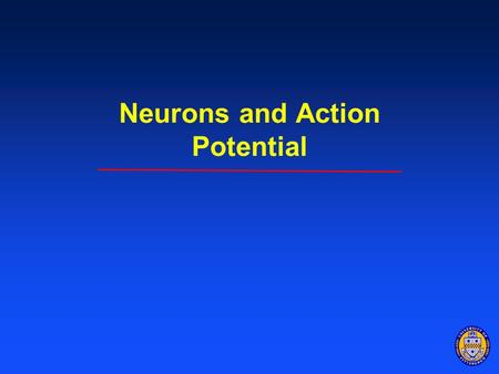 Neurons and Action Potential. Objectives 1.Understand the anatomy of a neuron and how signals travel along neurons. Describe parts and function of neuron.