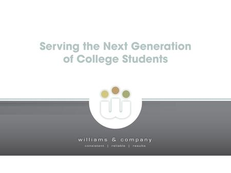 How different is the coming generation? Size – the high school Class of 2009 will be the largest in U.S. history The college age population will exceed.