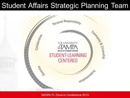 Student Affairs Strategic Planning Team NASPA FL Drive-in Conference 2013.