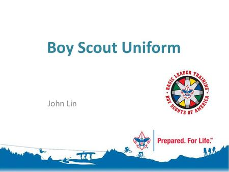 Boy Scout Uniform John Lin.
