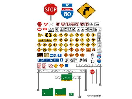Three Types of Road Signs Regulatory signs Warning signs Guidance signs.