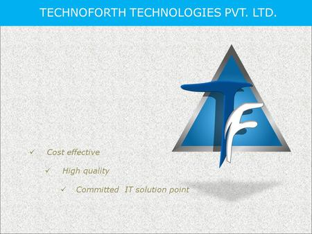 TECHNOFORTH TECHNOLOGIES PVT. LTD. Cost effective High quality Committed IT solution point.