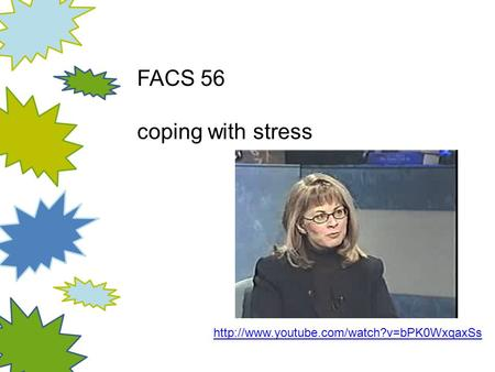 FACS 56 coping with stress