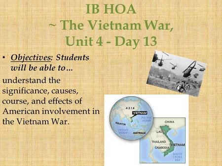 vietnam war coursework History gcse revision guide for students y11 2014-15 2 back to contents contents part 6: the impact of the war on the peoples of vietnam and the usa.
