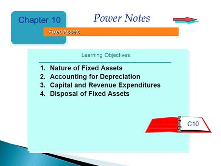 Power Notes Chapter 10 Fixed Assets Learning Objectives