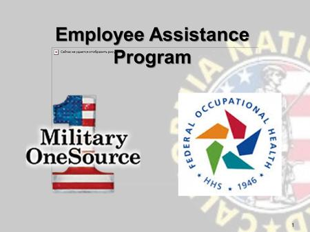 Employee Assistance Program 1.  In-person assessments; short-term, problem-solving counseling; coaching; consulting  Referrals to community resources.
