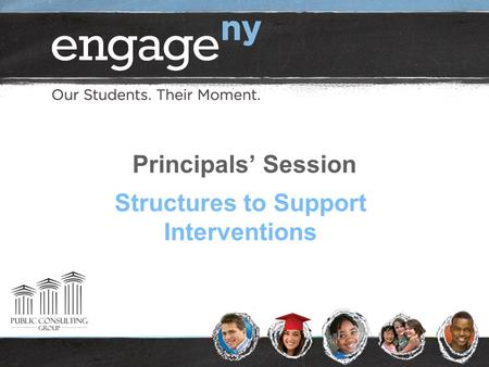 Principals' Session Structures to Support Interventions.