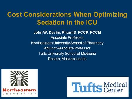 Cost Considerations When Optimizing Sedation in the ICU