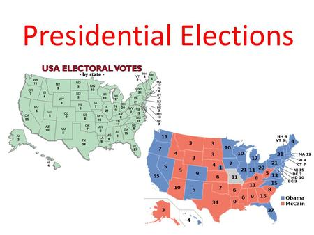 Presidential Elections. Vocabulary Electoral College – the system that the Framers of the Constitution set in place for Presidential Elections Popular.