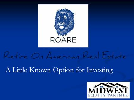 A Little Known Option for Investing. Would You Like More Choices For Your Investment Funds? It's a common misconception among Americans that the only.
