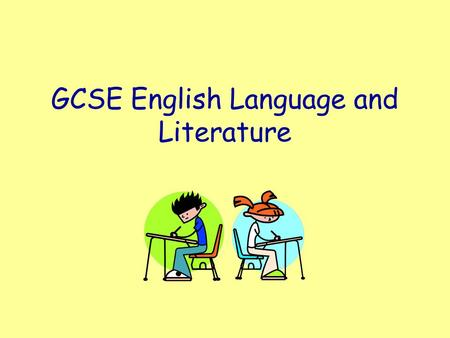 GCSE English Language and Literature. What's involved with each? GCSE English Language Exam 40% 4 th June S&L Tasks 20% Controlled Assessment (4 essays)