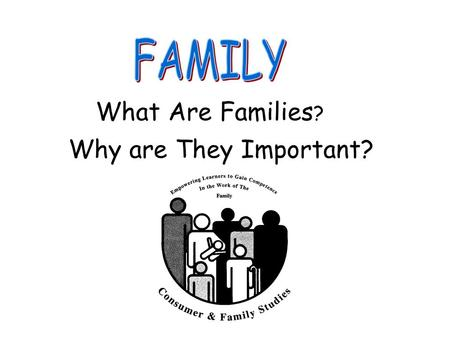 FAMILY What Are Families? Why are They Important?.