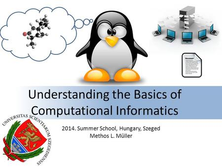 Understanding the Basics of Computational Informatics 2014. Summer School, Hungary, Szeged Methos L. Müller.