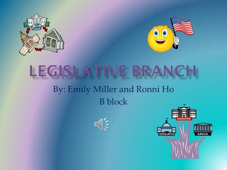 "By: Emily Miller and Ronni Ho B block John Adams was the first to say the words, ""Checks and Balances."" DEFINITION: limits imposed on all branches of."
