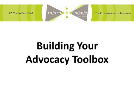 Building Your Advocacy Toolbox. 501(c)(3) Private Foundation 501(c)(4) Examples Tax Treatment Lobbying Activities Electoral Activities Contributions tax-deductible.