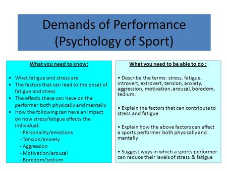 the effects of personality on sports World journal of sport sciences 6 (4): , 2012 issn idosi publications, 2012 doi: /idosiwjss the effect of type of sport, gender, personality and goal orientation.