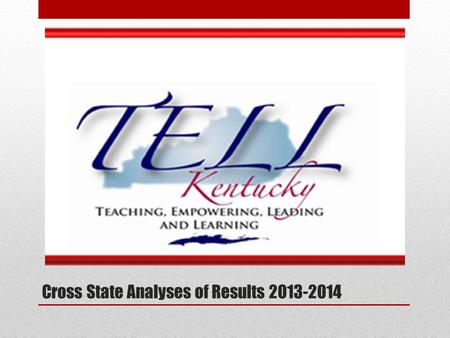 Cross State Analyses of Results 2013-2014. TELL Survey. New Teacher Center (NTC) worked collaboratively with 11 state coalitions—including governors,