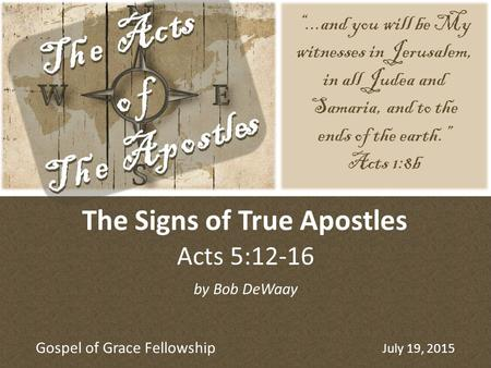 The Signs of True Apostles