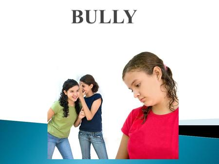 People think that bullying isn't a problem. Well it is. We need to stop bullying to help others out. Cause sometimes people bully others and don't think.