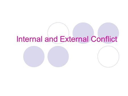 Internal and External Conflict. What is Conflict? A conflict is a struggle between opposing forces. There are two main kinds of conflict in stories: internal.