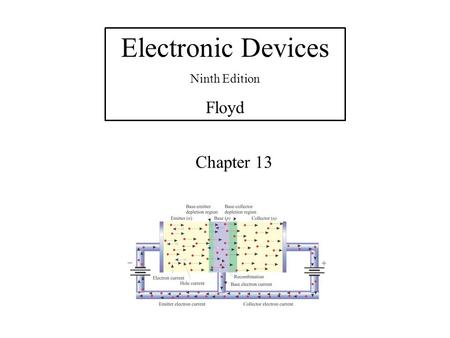 Electronic Devices Ninth Edition Floyd Chapter 13.