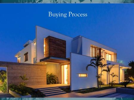 Buying Process There are many good reasons for you to buy a home, wealth building ranks among the top of the list. There are solid financial reasons.