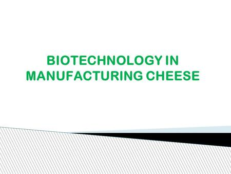 BIOTECHNOLOGY IN MANUFACTURING CHEESE. What is Biotechnology? Biotechnological process is one that uses microorganisms in various branches of industry,