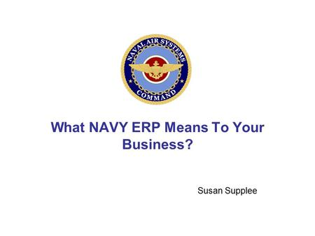 What NAVY ERP Means To Your Business?