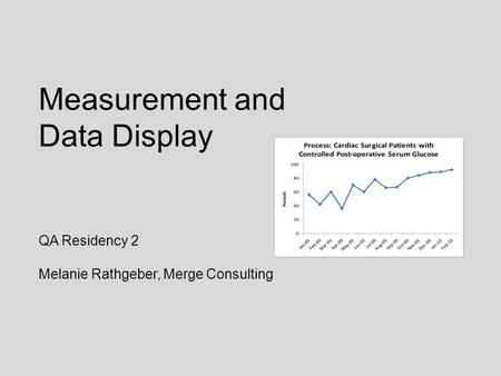Measurement and Data Display QA Residency 2 Melanie Rathgeber, Merge Consulting.