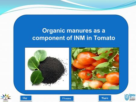 Organic manures as a component of INM in Tomato. Introduction  Organic manures are valuable by-products of farming and allied industries derived from.
