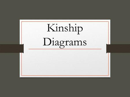 Kinship Diagrams. Unit Learning Objectives Differentiate between nuclear & extended families. Distinguish between family orientation & family procreation.