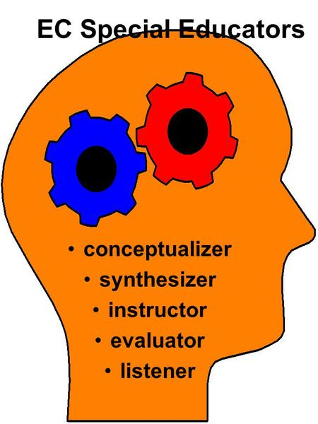 EC Special Educators conceptualizer synthesizer instructor evaluator listener.