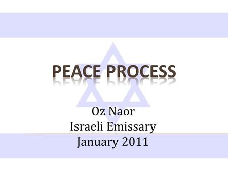 Oz Naor Israeli Emissary January 2011. Israel's Military Administration of the West Bank and Gaza 1967-1993 After the 1967 war, Israel immediately offered.