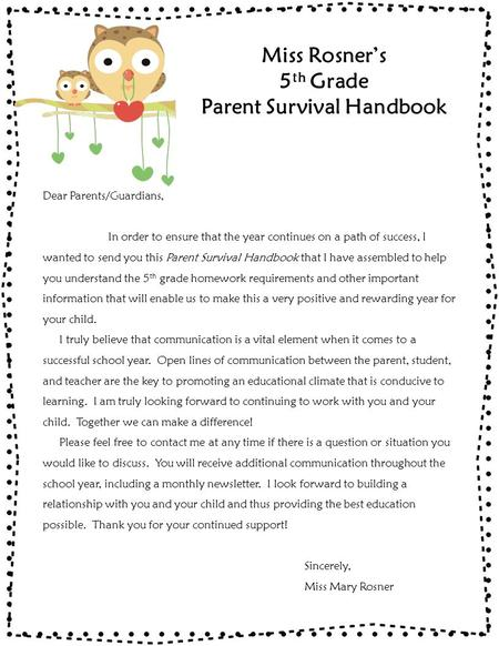 Parent Survival Handbook