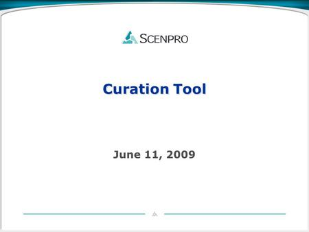 Curation Tool June 11, 2009. Curation Tool Overview Architecture Implementation Dependencies Futures 2.