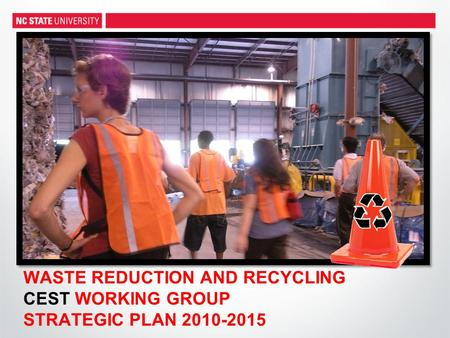 WASTE REDUCTION AND RECYCLING CEST WORKING GROUP STRATEGIC PLAN 2010-2015.