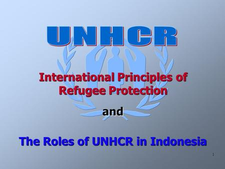 1 International Principles of Refugee Protection and The Roles of UNHCR in Indonesia.